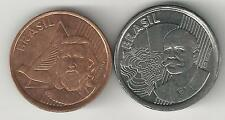 2 NICE COINS from BRAZIL - 5 & 50 CENTAVOS (BOTH DATING 2011)