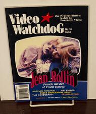 VIDEO WATCHDOG ISSUE #31 JEAN ROLLIN NM/MINT
