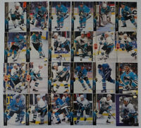 1994-95 Upper Deck UD San Jose Sharks Team Set of 24 Hockey Cards