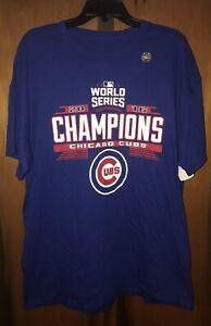 New Chicago Cubs VF Imagewear 2016 World Series Champions T-shirt. Sz XL & Blue