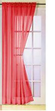 Plain Voile Curtain Panel Rod Pocket Net Slot Top Blind Black Cream White Pink