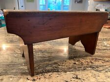 19th Century New England Footstool in Original Red Stain