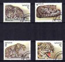 Animaux Félins Kirghizstan (56) série complète 4 timbres oblitérés