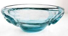 ART GLASS BOWL MEL MUNSEN  Signed & Dated Light Blue 1973 Mid Mod Hand Blown EUC