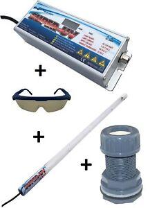 Air Aqua Hochleistungs-Tauch UVC Lampe Amalgam 75 Watt Bausatz Koi-Teich, Pool i