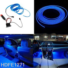 5M BLUE 12V EL Wire Cold light lamp Neon Lamp Car Atmosphere Lights Unique Decor