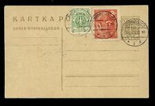 POLAND 1929 STATIONERY CARD UPRATED CTO