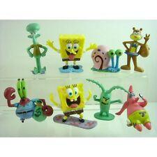 Set of 8 pcs SpongeBob SquarePants Patrick Bob & His Friends 3cm - 6cm Figures
