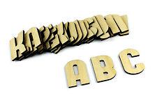 Lettre Alphabet En Bois/Uni/Tenture Murale/ Décor Maternelle Taille M Lot De 26