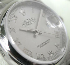 Rolex DATEJUST 116200 Mens Steel Domed Bezel Oyster Silver Roman Dial 36MM
