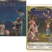 2 Magazine ad's MENNEN'S Toilet Powder 1905-1908 B4