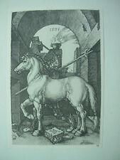 Albrecht DURER VINTAGE incisione su rame il cavallo di piccole dimensioni