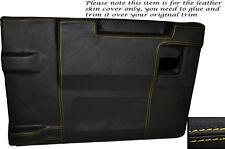 Yellow Stitch Posteriore PORTELLONE Porta Carte Pelle Copertura si adatta LAND ROVER DEFENDER 83-14