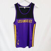Los Angeles Lakers Adidas NBA Training Basketball Jersey Mens Medium