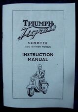 Triumph Tigress Scooter coil ignition models Instruction Manual 1964 TH12