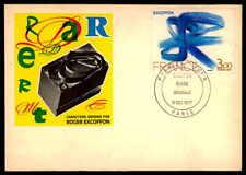 France MK 1977 Peintures roger excoffon maximum Carte CARTE MAXIMUM CARD MC cm dd66