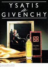 PUBLICITE ADVERTISING 116  1988  Ysatis  parfum de Givenchy