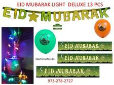 EID Mubarak 13 PCS Lights-Banners-Balloons Deluxe Decoration ☪☪Islamic Ramadan☪☪