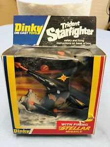 DINKY TOYS TRIDENT STARFIGHTER NUOVO MADE IN ENGLAND VINTAGE