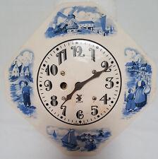Delft style Miller Clock, Ceramic and Porcelain, Vintage, NO KEY