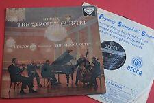 SXL 2110 WBg ED1 Schubert Trout Quintet Curzon Vienna Octet DECCA STEREO LP UK