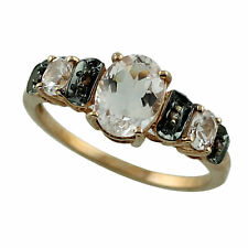 Solid 18k Rose Gold Casual Ring with Natural Morganite 1.44 Ct. Gemstone