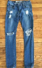 Light Blue Ripped Boot Cut jeans by Machine Jeans DMP1A1706