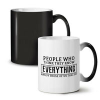 Funny People Who Think NEW Colour Changing Tea Coffee Mug 11 oz | Wellcoda