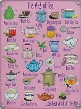 New 15x20cm A-Z of Tea retro metal advertising wall sign