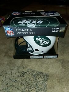 Youth New York Jets Franklin Sports Helmet and Jersey Set nib ages 5-9