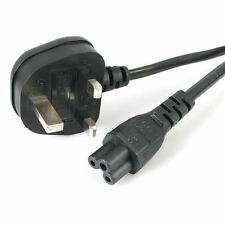 2M UK 3 Pin Mains Clover Leaf C5 Cloverleaf Power Lead Cable for Laptop Charger
