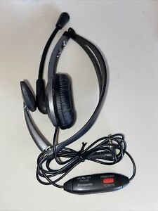 Panasonic KX-TCA430 Over the Head Headset with Noise-Canceling Microphone