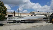 Boat project 38 Ft Scarab with engines, drives and gimbals.