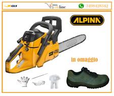 ALPINA MOTOSEGA LEGGERA A455 MANUTENZIONE BARRA DA 45 CM DA POTA +scarpe omaggio