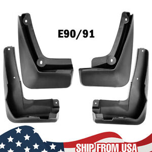 Set For BMW 3 Series E90 E91 Front Rear Mud Flaps Mudguards Splash Guards