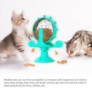Windmill Cat Toys Turntable Teasing Cat leaking Food Puzzle Toy Pet Interactive