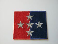 1 Royal Military Police Brigade Flash - Red/Blue & Silver Stars  Military Patch