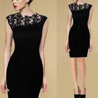 Sexy Lady Lace Stretch Clubwear Cocktail Evening Party Bodycon Dress