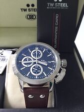 TW Steel Men's CEO Adesso 7005 48mm Leather Strap Chronograph Watch RRP499