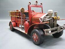 Alte Bomberos Auto Modelo Coche de Chapa 46 Cm Oldtimer Camión de Bomberos