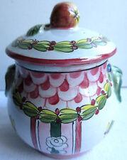 SUPERBE Pot à crème Napoléon III terre cuite émaillée, signé Perrier Paris