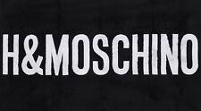 "Moschino x H&M 'H&Moschino' ; Designer Bath Sheet / Beach Towel B&W 55"" x 36"" Nwt!"