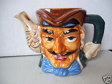 Vintage Figural Teapot Colonial Character Face & Head No Lid Made In Japan