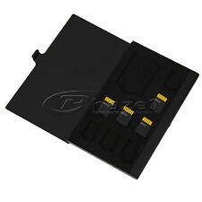 8 in 1 Aluminium Micro for TF SD SDHC TF MS Memory Card Storage Case Box - Black