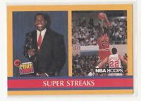 MICHAEL JORDAN 1990-91 Hoops #385 Chicago Bulls MINT Magic Johnson Super Streaks