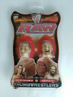 WWF WWE Raw Thumb Wrestlers HHH HBK Heads Collectibles Rare Find Sealed New HTF