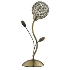 Searchlight Bellis Ii Antique Brass Crystal Ball Bedside Office Table Lamp Light