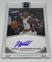 2019 20 Panini Instant Nickeil Alexander-Walker ON CARD BLUE AUTO RC #10/25