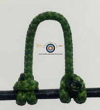 3 Pack- Speckled  Green/Black  Archery Release Bow String D Loop, BCY #24