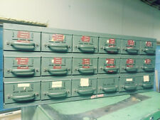 Equipto Metal Storage 18 Drawer Parts Bin Organizer VG No Rust Lyon industrial